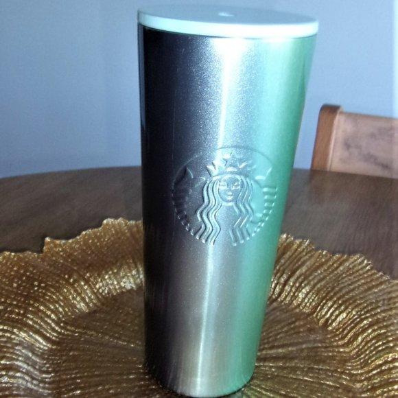 Starbucks ombre teal blue purple 24oz Tumbler cup